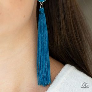 Picture of Tightrope Tassel - Blue Earring